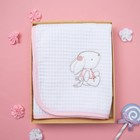 """Полотенце вафельное """"Этелька"""" Друзья 82х82 см, цвет розовый 100% хл, 260 гр/м2"""