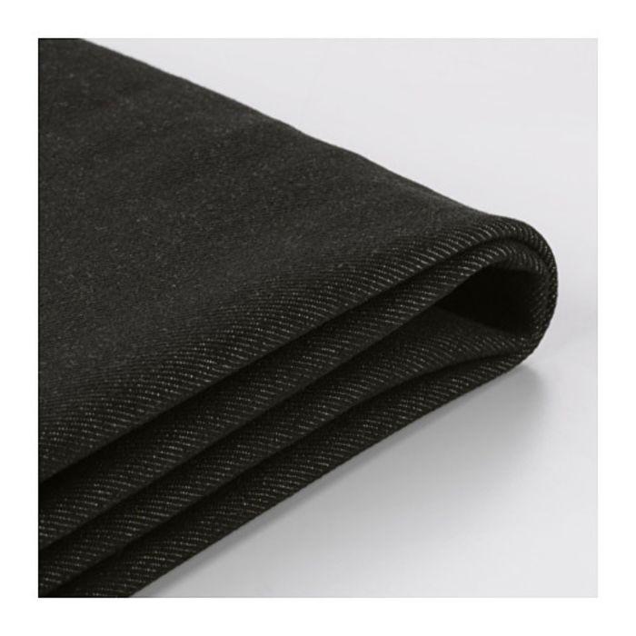 Чехол на двухместный диван-кровать, Ванста черный ИКЕА ПС