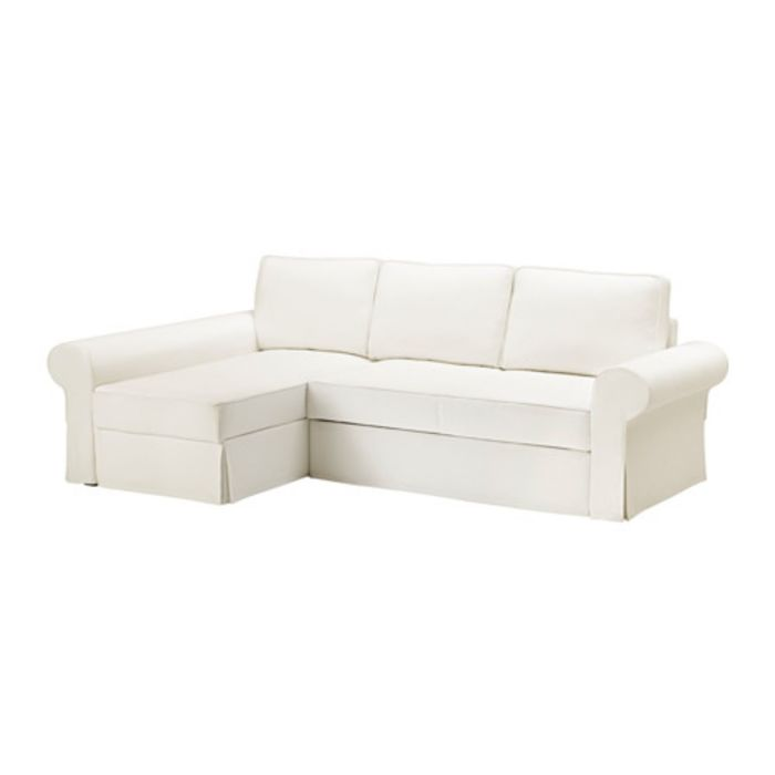 Чехол на диван-кровать с козеткой, Хильте белый БАККАБРУ