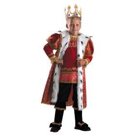 Карнавальный костюм «Король», (бархат и парча), размер 36, рост 146 см