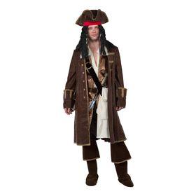 Карнавальный костюм «Капитан Джек Воробей», (бархат и парча), р. 48, рост 182 см