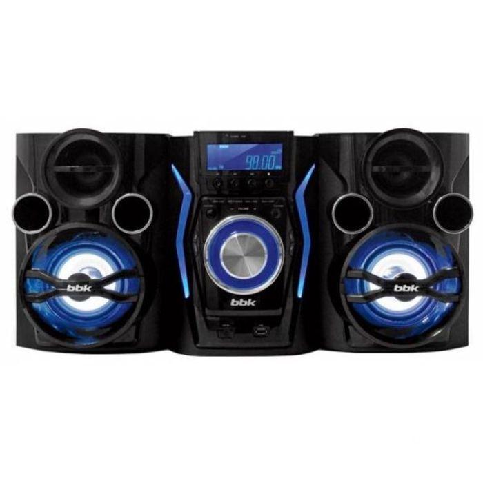 Минисистема BBK AMS110BT черная/темно-синяя 120Вт/CD/CDRW/FM/USB/BT