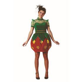 Карнавальный костюм «Клубничка», для взрослых, размер 48