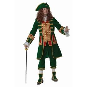 Карнавальный костюм «Пётр I», бархат, парча, р. 50, рост 176 см