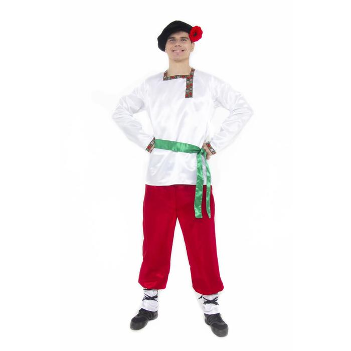Карнавальный костюм «Ванюшка», для взрослых, текстиль, размер 54 - фото 899070