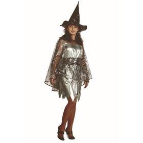 Карнавальный костюм «Ведьмочка» для взрослых, текстиль, р. 48, рост 170 см