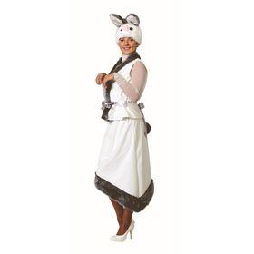 Карнавальный костюм «Зайка», плюш, жакет, юбка, маска, размер 44-46, рост 170 см