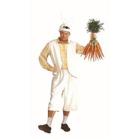 Карнавальный костюм «Заяц», для взрослых, плюш, размер 52-54