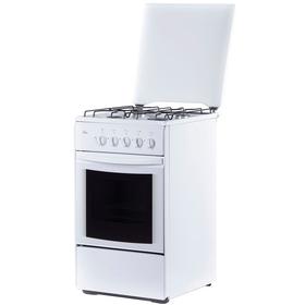 Плита газовая Flama RG 24022 W, 4 конфорки, 50 л, газовая духовка, белый