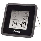 Метеостанция Hama TH50, измерение влажности, часы, прогноз погоды, чёрная