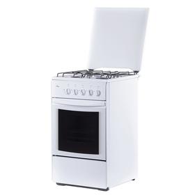 Плита газовая Flama RG 2401 W, 4 конфорки, 50 л, газовая духовка, белая