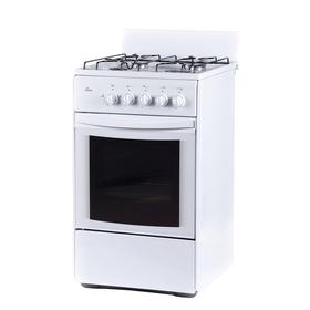 Плита газовая Flama RG 24011 W, 4 конфорки, 50 л, газовая духовка, белая