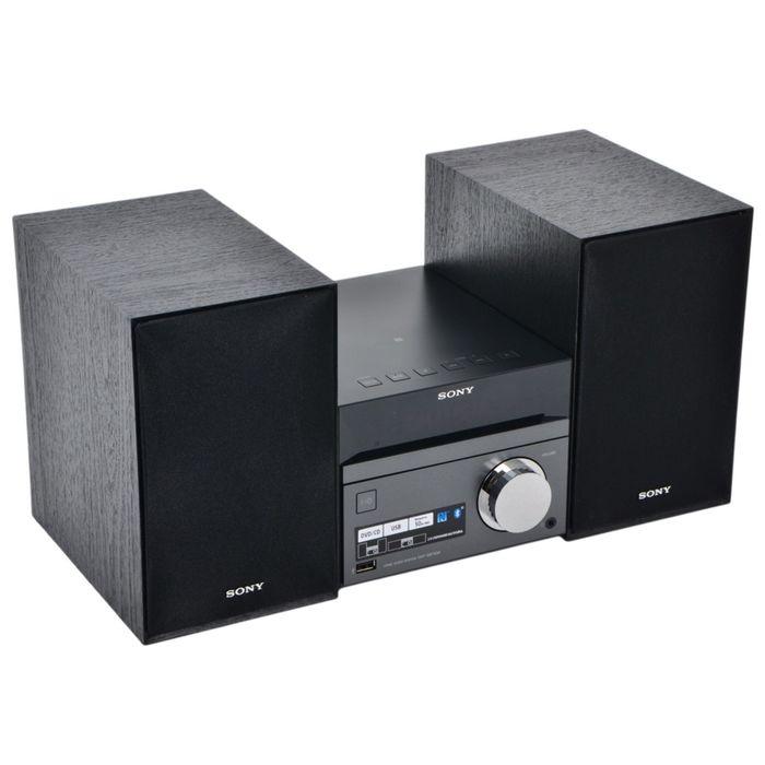Микросистема Sony CMT-SBT40D чёрная/серебристая 50Вт/CD/CDRW/DVD/DVDRW/FM/USB/BT