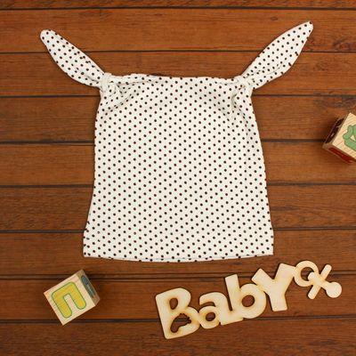 Шапочка для мальчика, размер 38-40, цвет молочный 7730