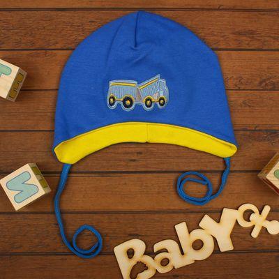 Шапка для мальчика, размер 38-40, цвет синий 7766
