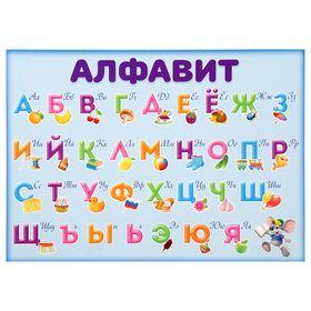 Обучающий плакат А4 'Алфавит и прописи' Ош