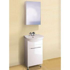 Комплект мебели Aqwella Master box leon 45 подвесной, тумба с раковиной Unam 400 и зеркало