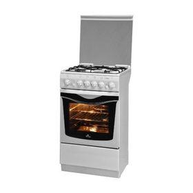 Плита газовая De Luxe 5040.33 Г, 4 конфорки, 43 л, газовая духовка, белый