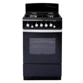 Плита газовая De Luxe 5040.36 Г, 4 конфорки, 43 л, газовая духовка, чёрная