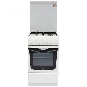 Плита газовая De Luxe 506040.01 Г ЧР, 4 конфорки, 54 л, газовая духовка, белый