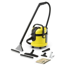 Пылесос Karcher SE4002, моющий, 1400 Вт, 4 л, съёмный бак для чистой воды, жёлтый/чёрный