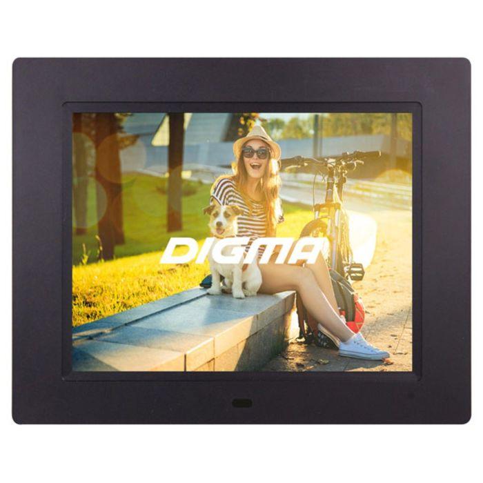 """Фоторамка Digma 8"""" PF-833 1024 x768, ПДУ Видео, черный"""