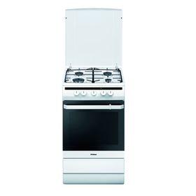 Плита Hansa FCMW63000, газовая, 4 конфорки, 67 л, электрическая духовка, белая