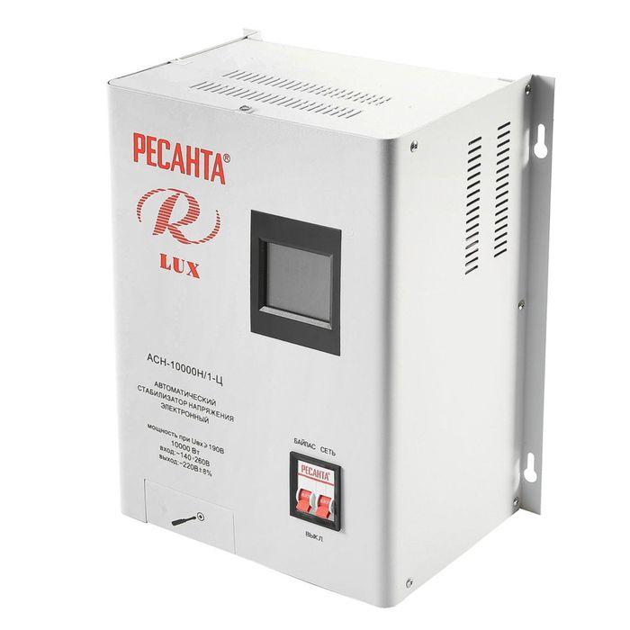 Стабилизатор напряжения Ресанта АСН-10000Н/1-Ц электронный, однофазный, серый