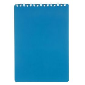 Блокнот А5, 50 листов на гребне «Тёмно-синий», клетка, обложка мелованный картон