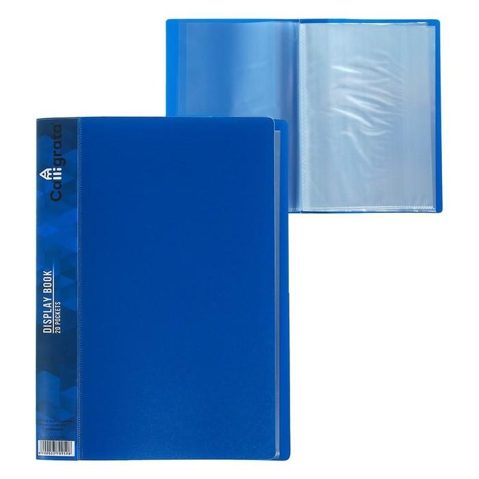 Папка с 20 прозрачными вкладышами А5, синяя