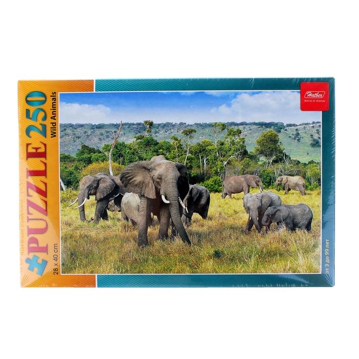 "Пазлы ""Слоны в саванне"", 250 элементов"
