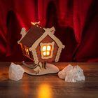 """Соляной светильник """"Домик"""", деревянный декор"""