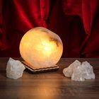 """Соляной светильник """"Круг"""" 8 х 8 х 6 см, цельный кристалл"""