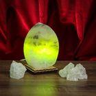 """Соляной светильник """"Листик"""" малый ,13 х 8 х 6 см, цветной, цельный кристалл"""