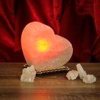 """Соляной светильник """"Сердце"""" малый 13 х 13 х 6 см, цветной, цельный кристалл"""