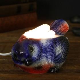 Соляной светильник 'Синица' малый керамика, 7 х 10 х 15 см, микс Ош