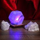 """Соляной светильник USB """"Радуга ГАЙКА"""", цветной, цельный кристалл"""