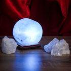"""Соляной светильник USB """"Радуга КРУГ"""" 8х8 см, цветной, цельный кристалл"""