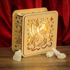 """Соляной светильник """"Ангелок"""" 18 х 18 см, деревянный декор"""