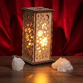 Соляной светильник 'Космос' 20 х 12 см, деревянный декор Ош