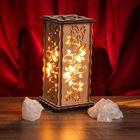 """Соляной светильник """"Лоза"""" 20 х 12 см, деревянный декор"""