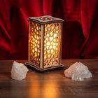 """Соляной светильник """"Сердечки"""" малый 15 x 10 см, деревянный декор"""