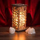 """Соляной светильник """"Узор"""", 20 х 12 см, деревянный декор"""