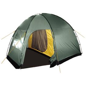 Палатка, серия Casmping Dome 4, зелёная, 4-местная