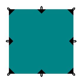 Тент серия Camping 6x6 м, цвет зелёный