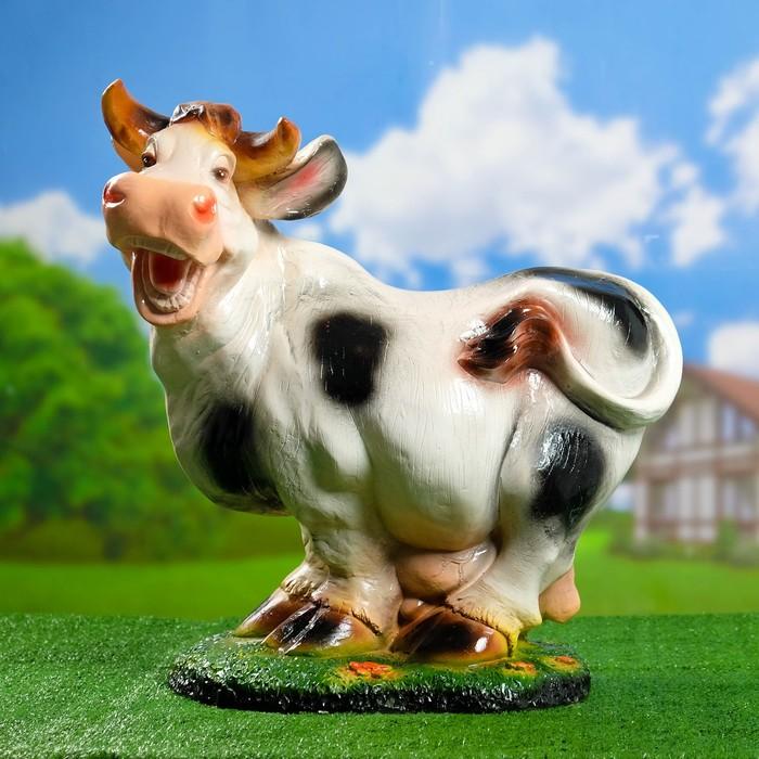 """Садовая фигура """"Весёлая корова"""" большая"""