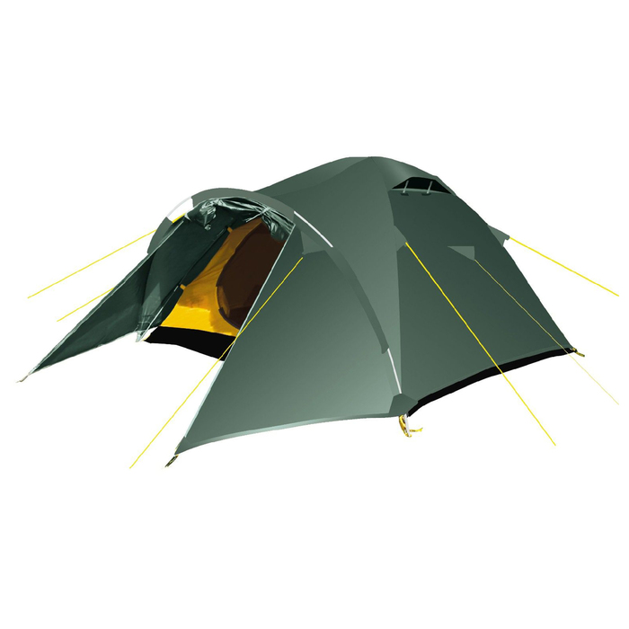 Палатка, серия Trekking Challenge 3, зелёная, трёхместная
