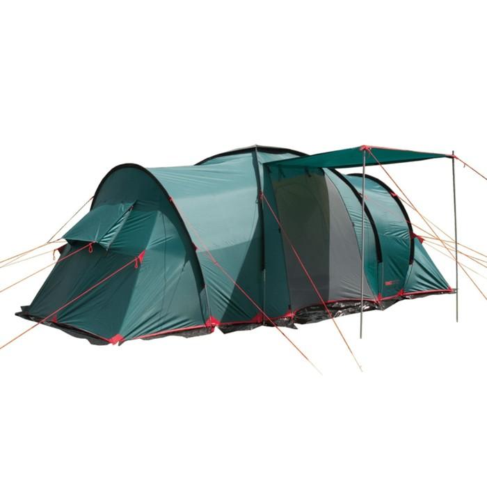 Палатка, серия Casmping Ruswell 4, зелёная, 4-местная