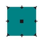 Тент серия Camping 4x6 м, цвет зелёный