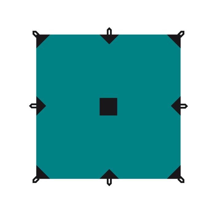 Тент серия Camping 4 x 6 м, цвет зелёный